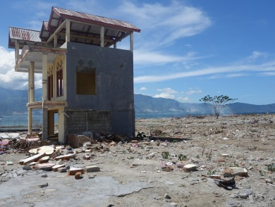 only building standing after tsunami