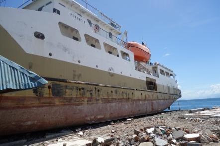 ship washed ashore