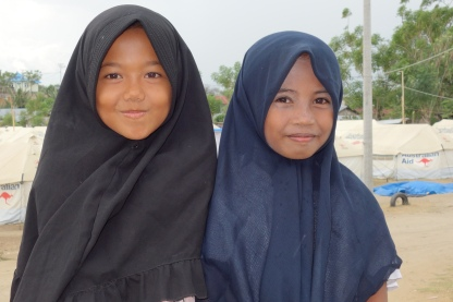 young girls at camp